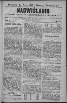 Nadwiślanin : tygodnik handlowy, przemysłowy i ekonomiczny 1874, R. 2 nr 44