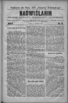 Nadwiślanin : tygodnik handlowy, przemysłowy i ekonomiczny 1874, R. 2 nr 45
