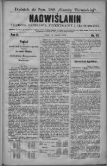 Nadwiślanin : tygodnik handlowy, przemysłowy i ekonomiczny 1874, R. 2 nr 47