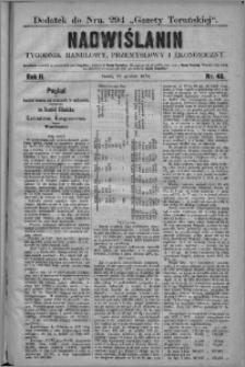 Nadwiślanin : tygodnik handlowy, przemysłowy i ekonomiczny 1874, R. 2 nr 48