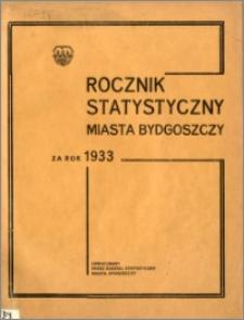 Rocznik Statystyczny Miasta Bydgoszczy za rok 1933