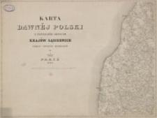 Karta dawnéj Polski z przyległemi okolicami krajów sąsiednich według nowszych materyałów na 1:300000