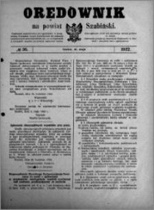 Orędownik na powiat Szubiński 1922.05.10 R.3 nr 36