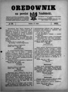 Orędownik na powiat Szubiński 1922.05.17 R.3 nr 38