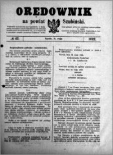 Orędownik na powiat Szubiński 1922.05.31 R.3 nr 42