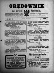 Orędownik na powiat Szubiński 1922.06.02 R.3 nr 43