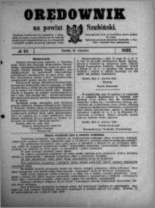 Orędownik na powiat Szubiński 1922.06.10 R.3 nr 44