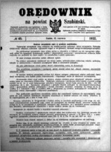 Orędownik na powiat Szubiński 1922.06.12 R.3 nr 45