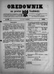Orędownik na powiat Szubiński 1922.08.02 R.3 nr 60