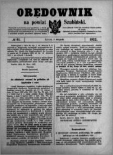 Orędownik na powiat Szubiński 1922.08.05 R.3 nr 61