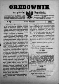 Orędownik na powiat Szubiński 1922.08.26 R.3 nr 66