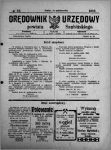 Orędownik Urzędowy powiatu Szubińskiego 1922.10.28 R.3 nr 85