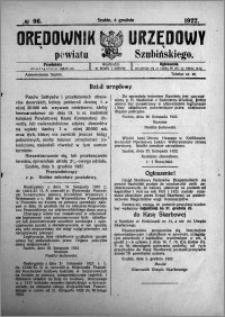Orędownik Urzędowy powiatu Szubińskiego 1922.12.06 R.3 nr 96