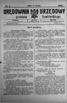 Orędownik Urzędowy powiatu Szubińskiego 1923.01.27 R.4 nr 9