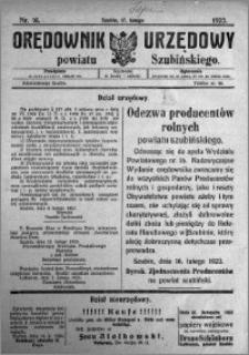 Orędownik Urzędowy powiatu Szubińskiego 1923.02.17 R.4 nr 16