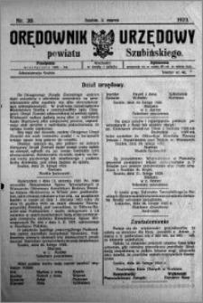 Orędownik Urzędowy powiatu Szubińskiego 1923.03.03 R.4 nr 20