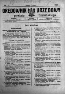 Orędownik Urzędowy powiatu Szubińskiego 1923.03.07 R.4 nr 21