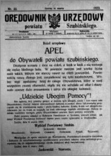 Orędownik Urzędowy powiatu Szubińskiego 1923.03.10 R.4 nr 22