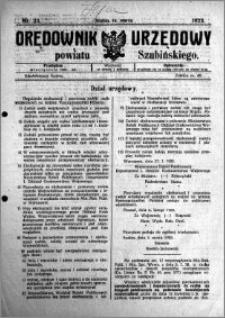 Orędownik Urzędowy powiatu Szubińskiego 1923.03.14 R.4 nr 23