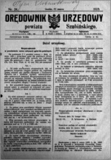 Orędownik Urzędowy powiatu Szubińskiego 1923.03.17 R.4 nr 24