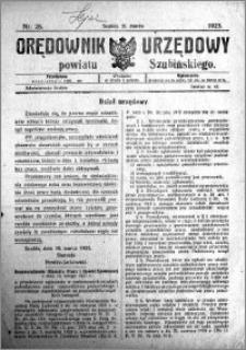 Orędownik Urzędowy powiatu Szubińskiego 1923.03.21 R.4 nr 25