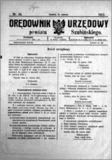 Orędownik Urzędowy powiatu Szubińskiego 1923.03.31 R.4 nr 28