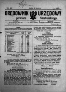 Orędownik Urzędowy powiatu Szubińskiego 1923.06.02 R.4 nr 45