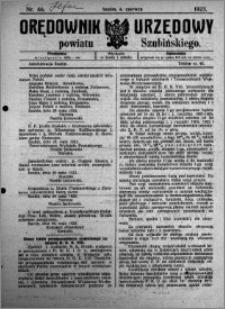Orędownik Urzędowy powiatu Szubińskiego 1923.06.06 R.4 nr 46
