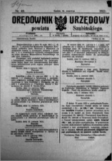 Orędownik Urzędowy powiatu Szubińskiego 1923.06.16 R.4 nr 49