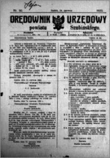 Orędownik Urzędowy powiatu Szubińskiego 1923.06.20 R.4 nr 50