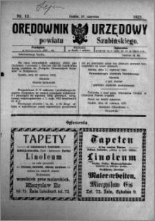 Orędownik Urzędowy powiatu Szubińskiego 1923.06.27 R.4 nr 52