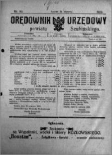 Orędownik Urzędowy powiatu Szubińskiego 1923.06.30 R.4 nr 53