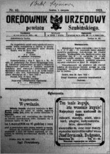 Orędownik Urzędowy powiatu Szubińskiego 1923.08.01 R.4 nr 62