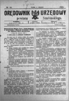 Orędownik Urzędowy powiatu Szubińskiego 1923.08.04 R.4 nr 63