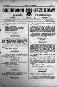 Orędownik Urzędowy powiatu Szubińskiego 1923.08.21 R.4 nr 68