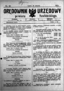 Orędownik Urzędowy powiatu Szubińskiego 1923.08.25 R.4 nr 69