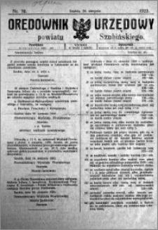 Orędownik Urzędowy powiatu Szubińskiego 1923.08.29 R.4 nr 70