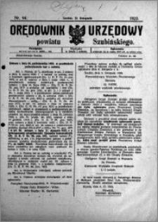 Orędownik Urzędowy powiatu Szubińskiego 1923.11.21 R.4 nr 94