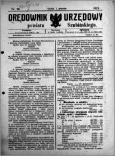 Orędownik Urzędowy powiatu Szubińskiego 1923.12.05 R.4 nr 98