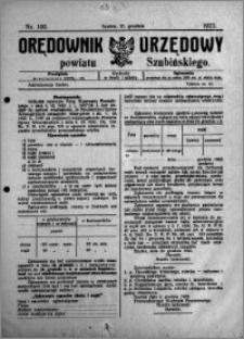 Orędownik Urzędowy powiatu Szubińskiego 1923.12.12 R.4 nr 100
