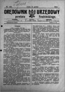 Orędownik Urzędowy powiatu Szubińskiego 1923.12.25 R.4 nr 104