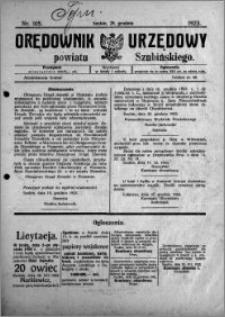Orędownik Urzędowy powiatu Szubińskiego 1923.12.29 R.4 nr 105