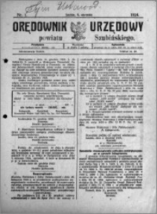 Orędownik Urzędowy powiatu Szubińskiego 1924.01.05 R.5 nr 1