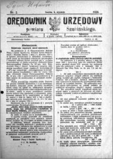 Orędownik Urzędowy powiatu Szubińskiego 1924.01.09 R.5 nr 2
