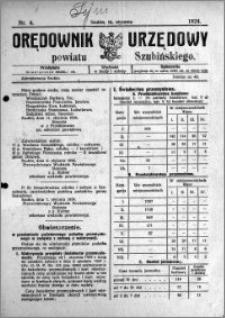 Orędownik Urzędowy powiatu Szubińskiego 1924.01.16 R.5 nr 4