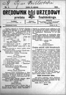 Orędownik Urzędowy powiatu Szubińskiego 1924.01.19 R.5 nr 5