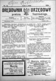 Orędownik Urzędowy powiatu Szubińskiego 1924.02.06 R.5 nr 10