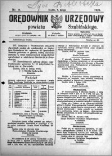 Orędownik Urzędowy powiatu Szubińskiego 1924.02.09 R.5 nr 11