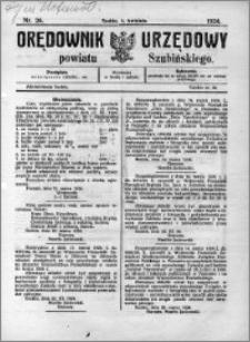 Orędownik Urzędowy powiatu Szubińskiego 1924.04.02 R.5 nr 26