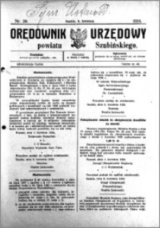 Orędownik Urzędowy powiatu Szubińskiego 1924.04.09 R.5 nr 28